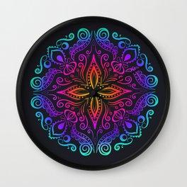Mandala colorful Wall Clock