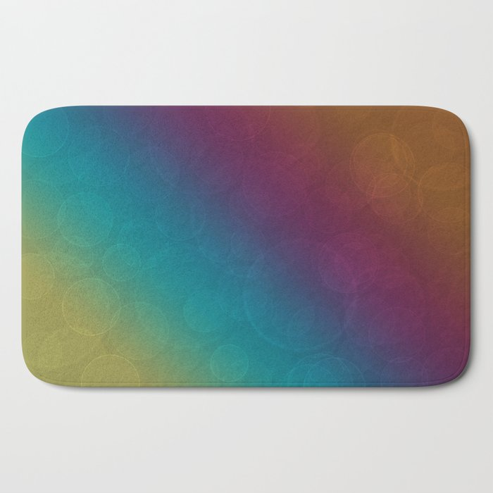 Bohek Bubbles on Rainbow of Color - Ombre multi Colored Spheres Bath Mat