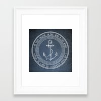 anchor Framed Art Prints featuring Anchor by Zeke Tucker