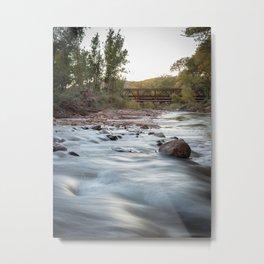 The Virgin River at Sunset 1 - Springdale, Utah Metal Print