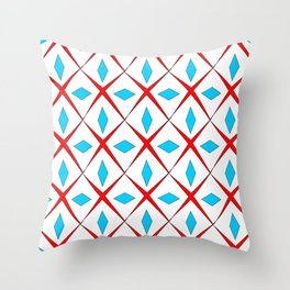 symetric patterns 25 -mandala,geometric,rosace,harmony,star,symmetry Throw Pillow