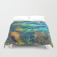 paper towns Duvet Covers featuring Paper by RDKL, Inc.