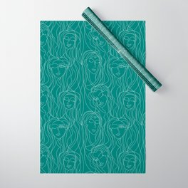 Green Ladies Wrapping Paper