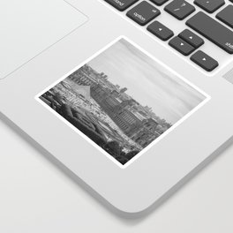 Postcard from Paris. Black and White Vintage Photography. Sticker