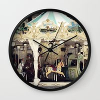 forever young Wall Clocks featuring Forever Young by farsidian