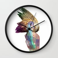 india Wall Clocks featuring India by Isabel Martinez Isabel