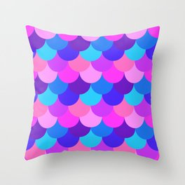 Scalloped Confetti in Electric Orchid Multi Throw Pillow