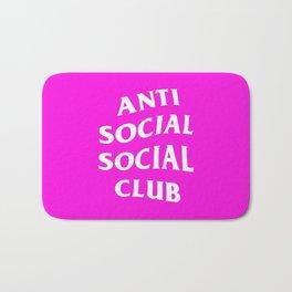 anti social club pink Bath Mat
