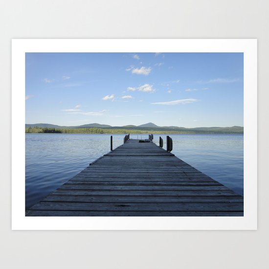 Summer Lake Dock Art Print
