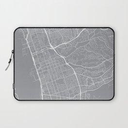 Chula Vista Map, California USA - Pewter Laptop Sleeve