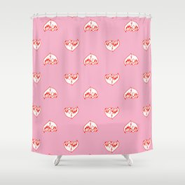 Best Friend Galentine's Day Pinky Promise Pattern in Pink Shower Curtain