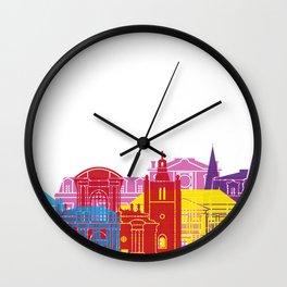 Le Havre skyline pop Wall Clock