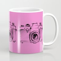 cameras Mugs featuring Cameras by Le Arcara