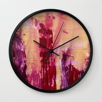 skyline Wall Clocks featuring Skyline by Stephanie Cole CREATIONS
