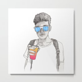 Summer boy Metal Print