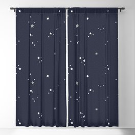 Starry Night Sky Blackout Curtain