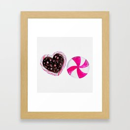 Holiday Candies Framed Art Print