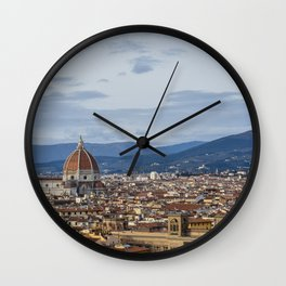 Florence Skyline from Piazza Michelangelo Wall Clock