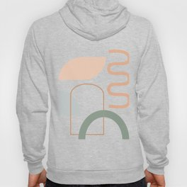 Organic Shapes Collage 2 in Neutral Earth Tones Hoody