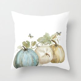 Watercolor neutral pumpkin  Throw Pillow