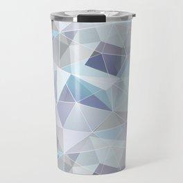 Broken glass in blue. Travel Mug