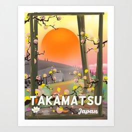 Takamatsu japan travel poster Art Print