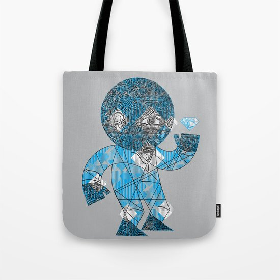mesmerized by the light blue diamond Tote Bag