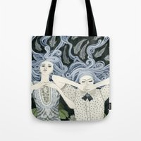 swim Tote Bags featuring Swim by Yuliya
