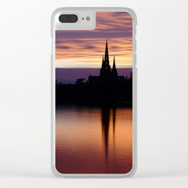 Sunset Reflection At The Lichfield Cathedral Clear iPhone Case