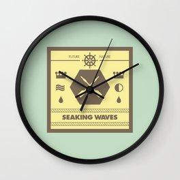 Seaking Waves 001 Wall Clock