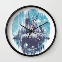wanderlust Wall Clocks featuring Wanderlust by Robson Borges