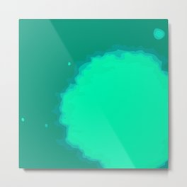 Splat on Teal - by Friztin Metal Print