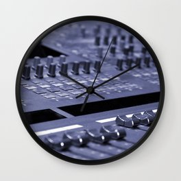 Mixing Console Wall Clock