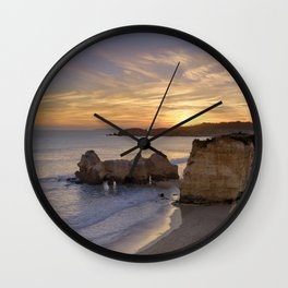 Praia da Rocha dusk, Portugal Wall Clock
