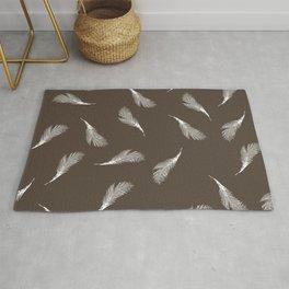 superb lyrebird feathers  Rug