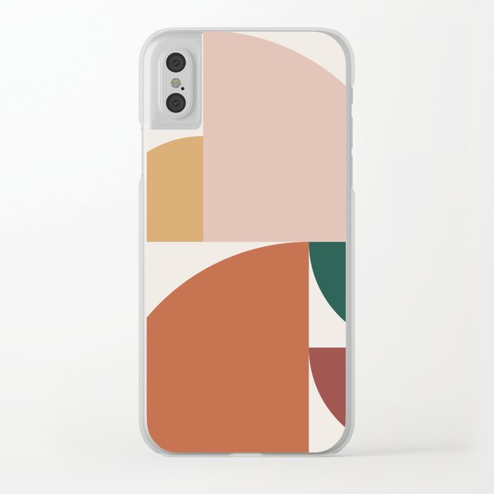 Abstract Geometric 10 Clear iPhone Case
