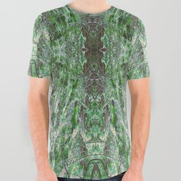 SUNSET SNOW IN CEDARS All Over Graphic Tee