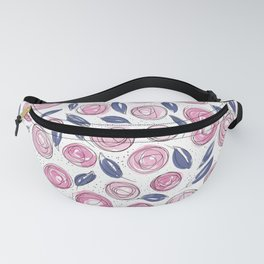 Floral Pattern #13 | Original Navy and Blush Fanny Pack
