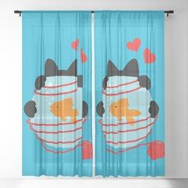Wool Web Sheer Curtain