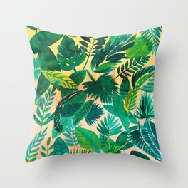 Jungle Leaf Throw Pillow