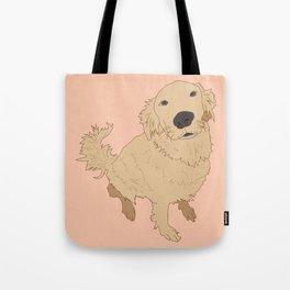 Golden Retriever Love Dog Illustrated Print Tote Bag