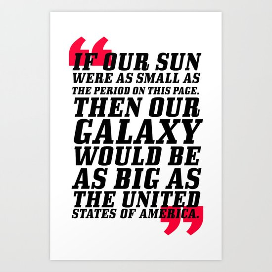 If Our Sun... Art Print