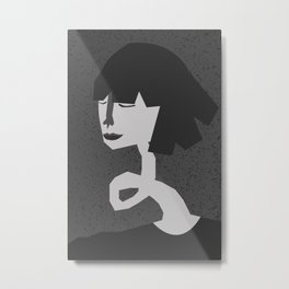 Crinkly neck Metal Print