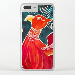 May the Phoenix Rise Clear iPhone Case