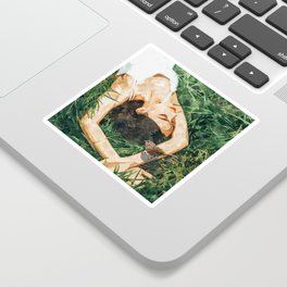 Jungle Vacay #painting #portrait Sticker