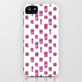 Candle Lit Pattern iPhone Case