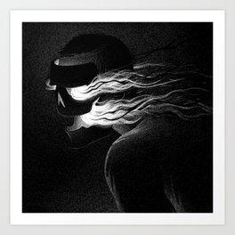 Drawlloween 2015: Mask Art Print