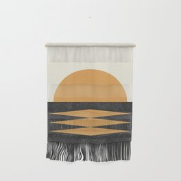 Sunset Geometric Midcentury style Wall Hanging