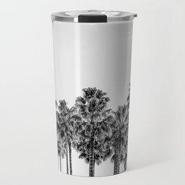 California Beach Vibes // Black and White Palm Trees Monotone Travel Photograph Travel Mug