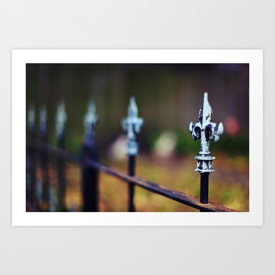 St. Louis Fleur de Lis Fence Art Print